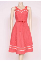 70's Red Sun Dress