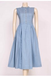 Smoky Blue Cotton Dress
