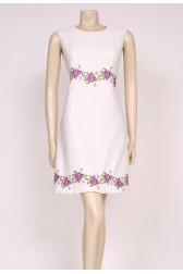 White Mod Shift Dress