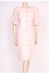 Baby Pink Linen Shift Dress