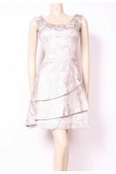 Silver Brocade Tier Dress