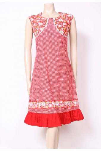 Spots & Flowers Red Dress