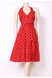 Red Halter Sun Dress