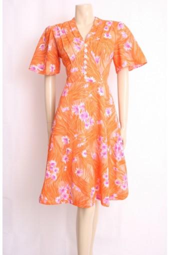 Orange Flare Mod Dress