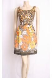 60's Yellow Flower Dress
