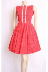 Rosy Red 50's Dress