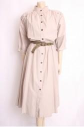 80's Safari Shirt Dress