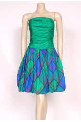 Tartan Puffball Dress