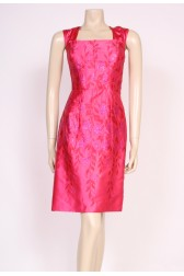 Cerise Satin 50's Dress