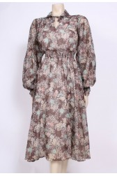 Folky Floral 70's Dress