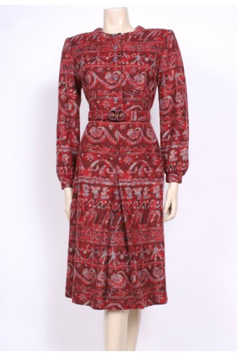 Red Knit Day Dress