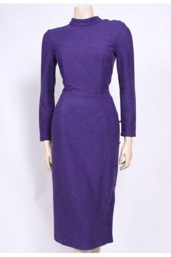 Purple Knit 80's Dress