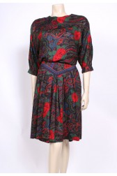 Rosey Paisley 80's Dress