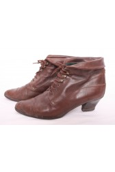 Brown 80's Ankle Boots