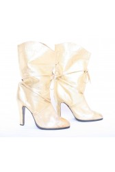 Gold Leather 70's Boots