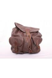 Brown Leather Rucksack