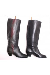 Tall Leather 80's Boots