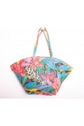 Huge 80's Tropical Shopper Bag