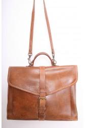 Large Tan Leather Satchel Bag
