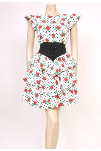 Spotty Roses Ra-Ra Dress