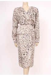 80's Leopard Print Wrap Dress