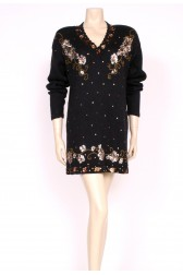 sequin Black Jumper Dress