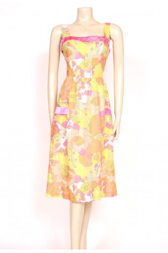Tutti-Frutti colour sun dress