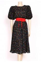 Spotty Black 80's dress