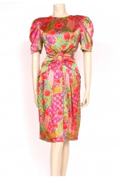 silk 80's statement dress