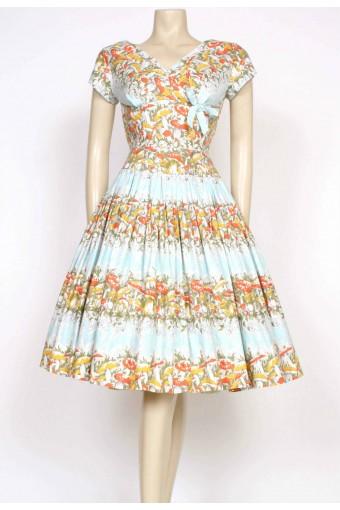 1950's toadstool tea dress