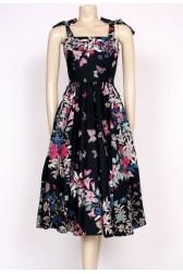 80's butterfly sun dress