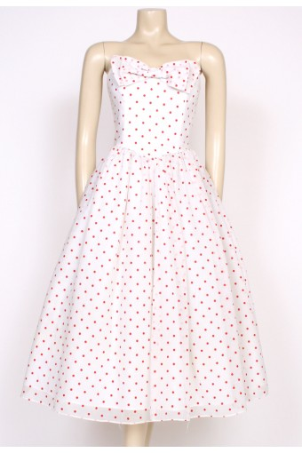 1980's polkadot radley prom dress