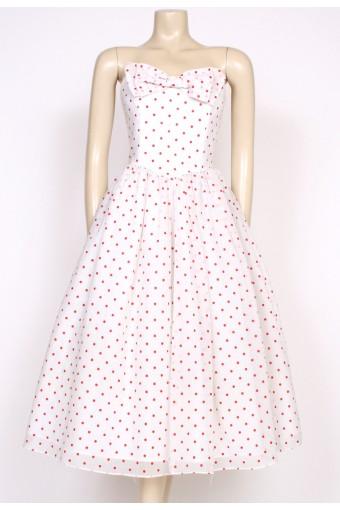 1980's polkadot radley prom dress