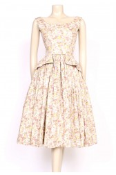1950's heavy cotton print dress