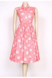 atomic print pink 50's dress
