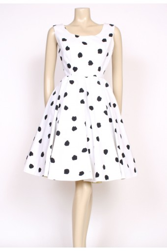 50's black & white dalmation dress