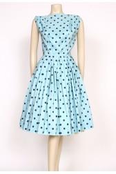 aqua spotty 50's dress