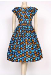 spotty 1950's day dress