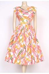 1950's leaf print dress