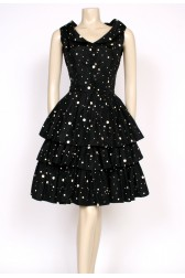 spotty 1960's cocktail dress