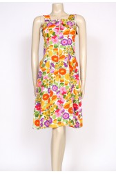 60's flower print day dress