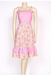 70's pink summer dress