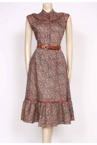 1970's floral sun dress