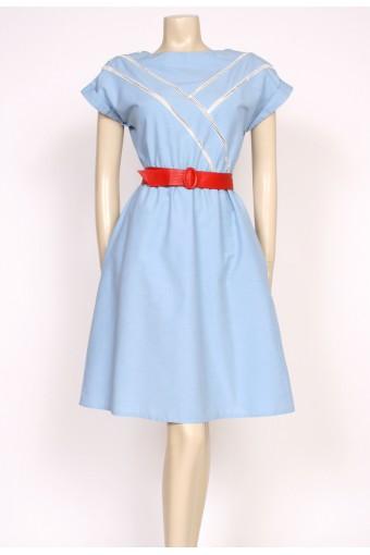 80's blue sun dress
