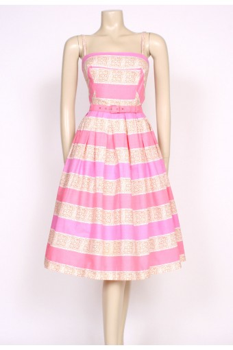 50's pink summer dress