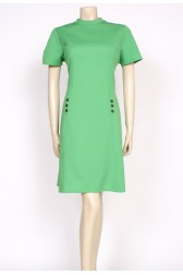 60's lime green mod dress