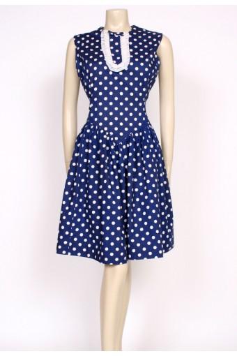 60's polkadot ruffle dress