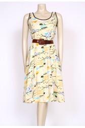80's sketch print dress