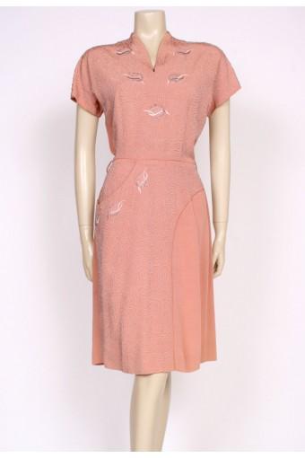 50's carnegie cocktail dress