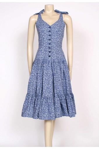 70's betty barclay sun dress
